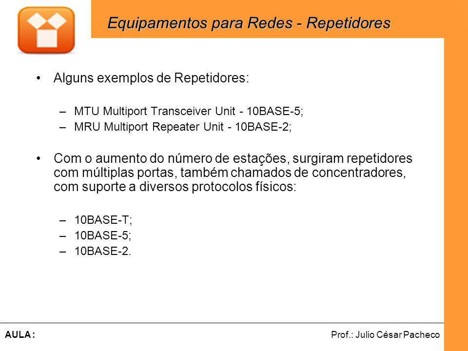 Equipamentos para Redes - Repetidores