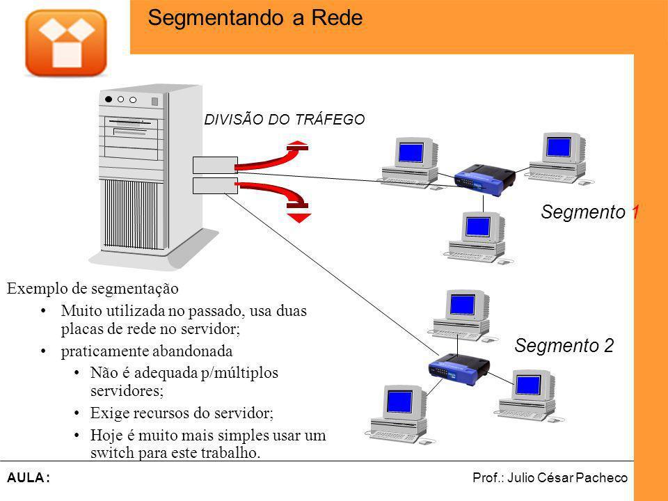 Segmentando a Rede Segmento 1 Segmento 2 Exemplo de segmentação
