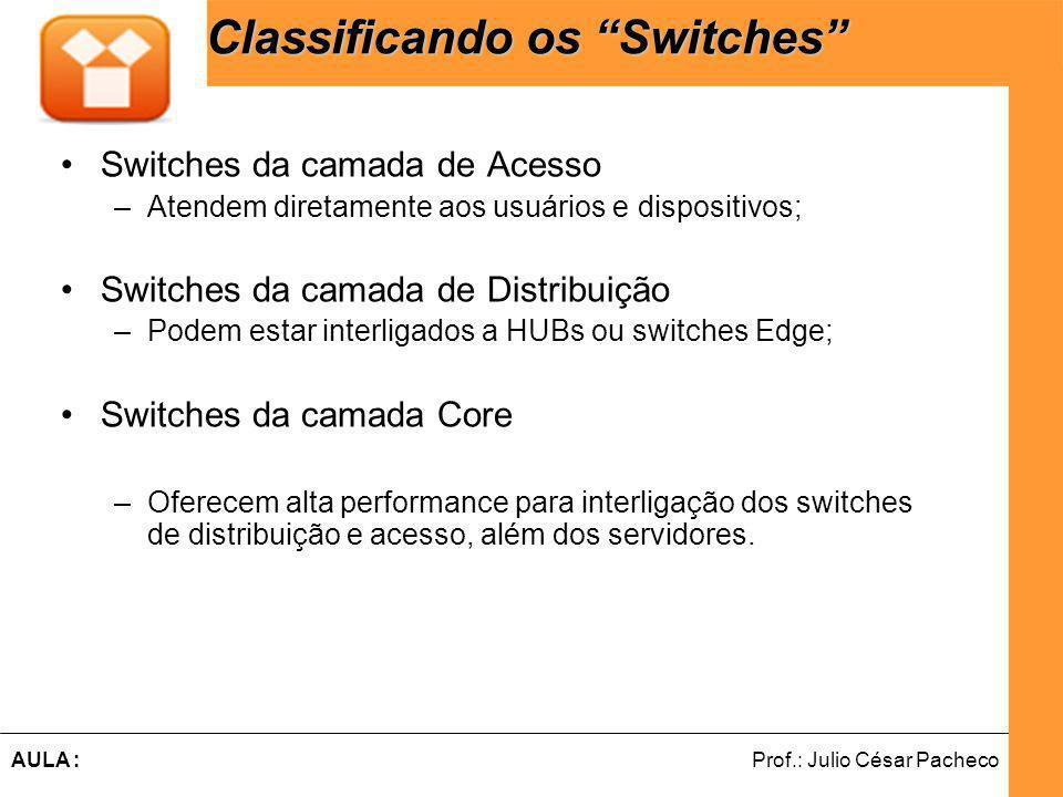 Classificando os Switches