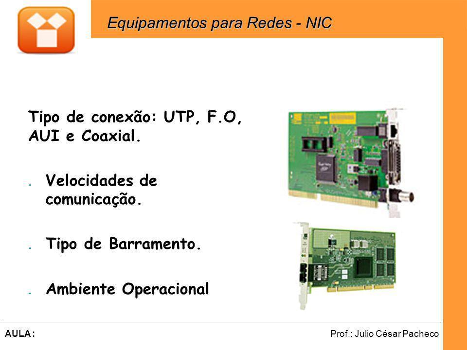 Equipamentos para Redes - NIC
