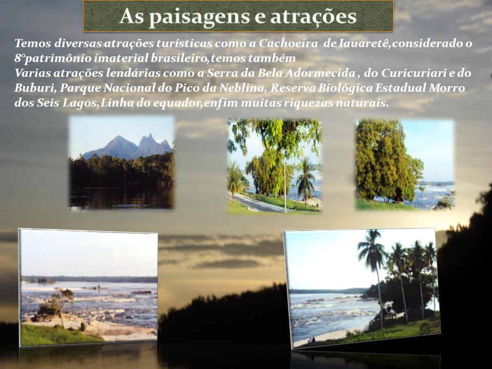 As paisagens e atrações