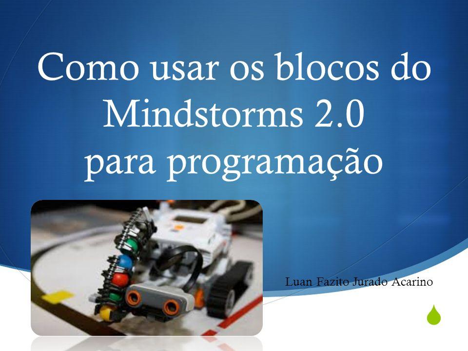 Como usar os blocos do Mindstorms 2.0 para programação