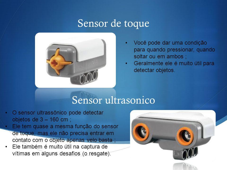 Sensor de toque Sensor ultrasonico