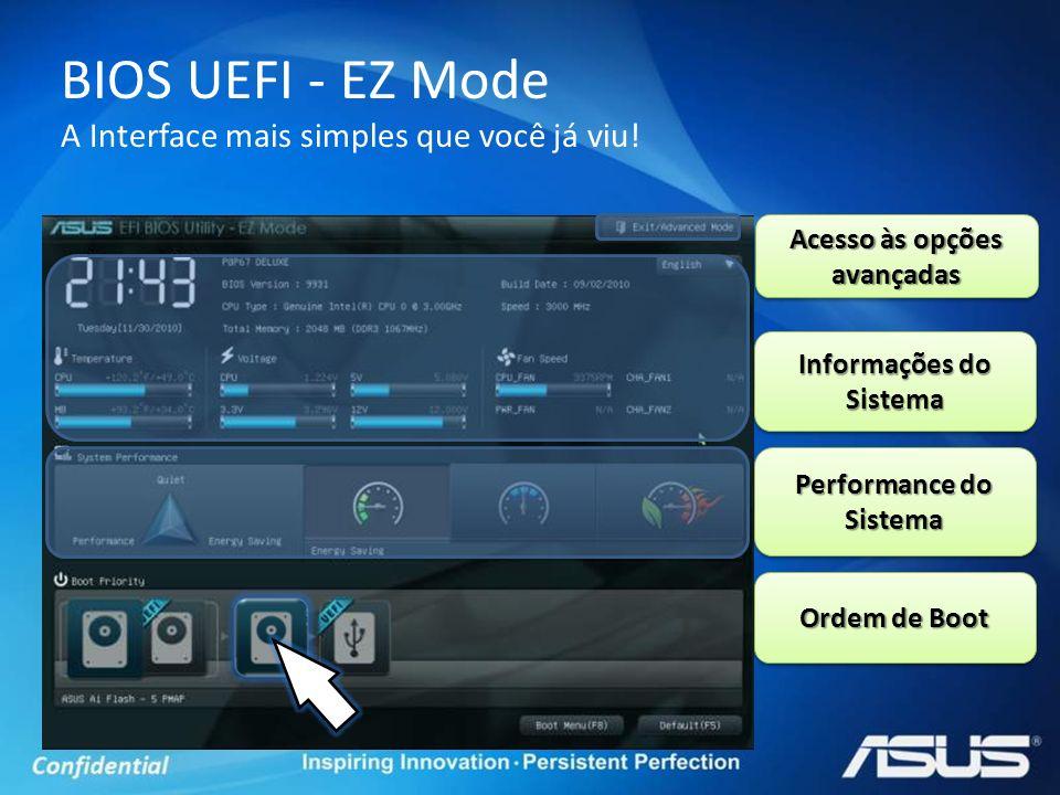 BIOS UEFI - EZ Mode A Interface mais simples que você já viu!