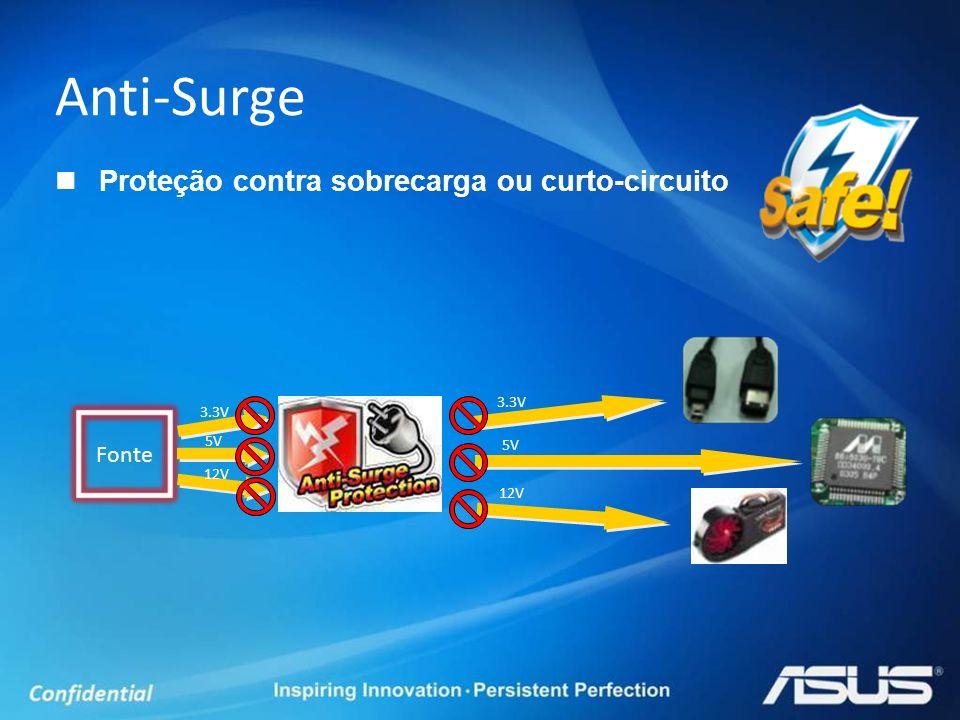 Anti-Surge Proteção contra sobrecarga ou curto-circuito Fonte 3.3V