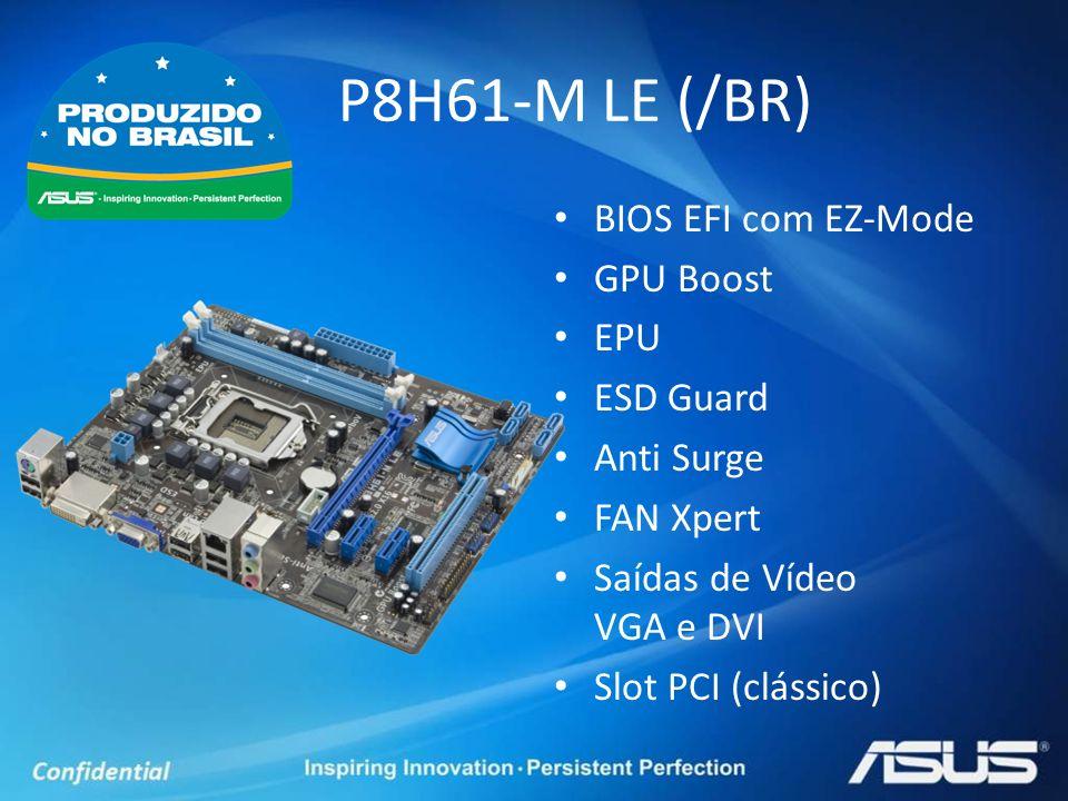 P8H61-M LE (/BR) BIOS EFI com EZ-Mode GPU Boost EPU ESD Guard