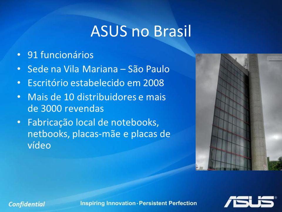 ASUS no Brasil 91 funcionários Sede na Vila Mariana – São Paulo