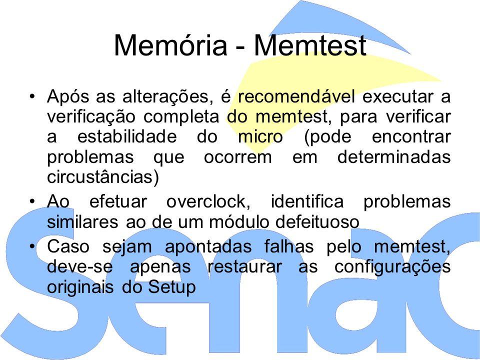 Memória - Memtest