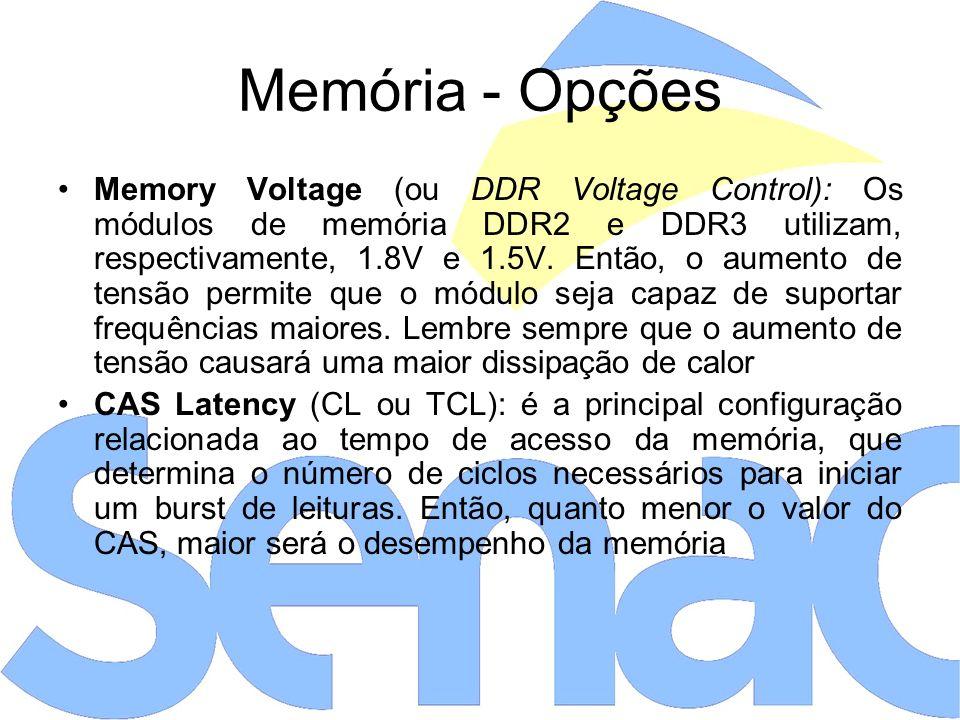 Memória - Opções