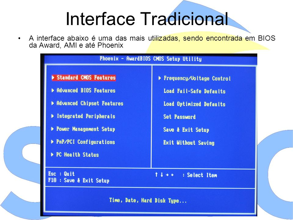 Interface Tradicional