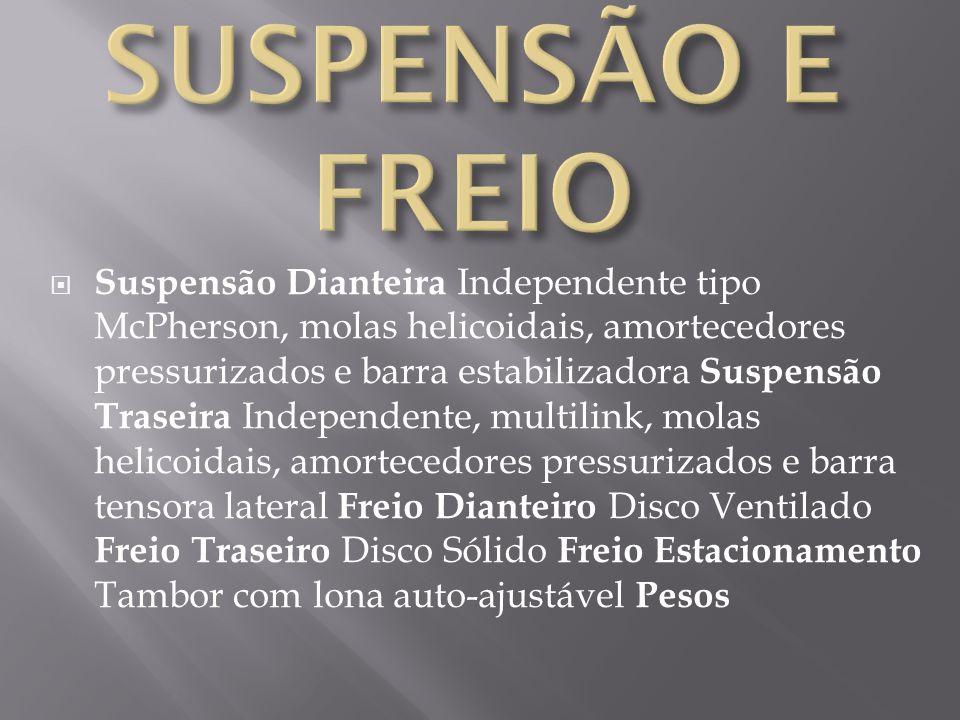 SUSPENSÃO E FREIO