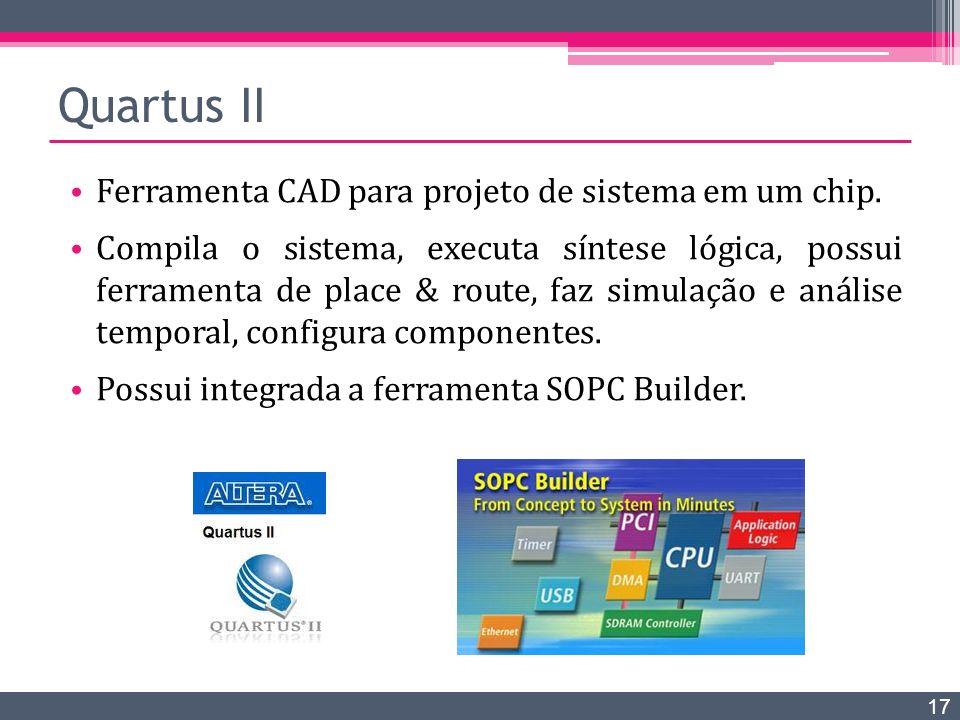 Quartus II Ferramenta CAD para projeto de sistema em um chip.