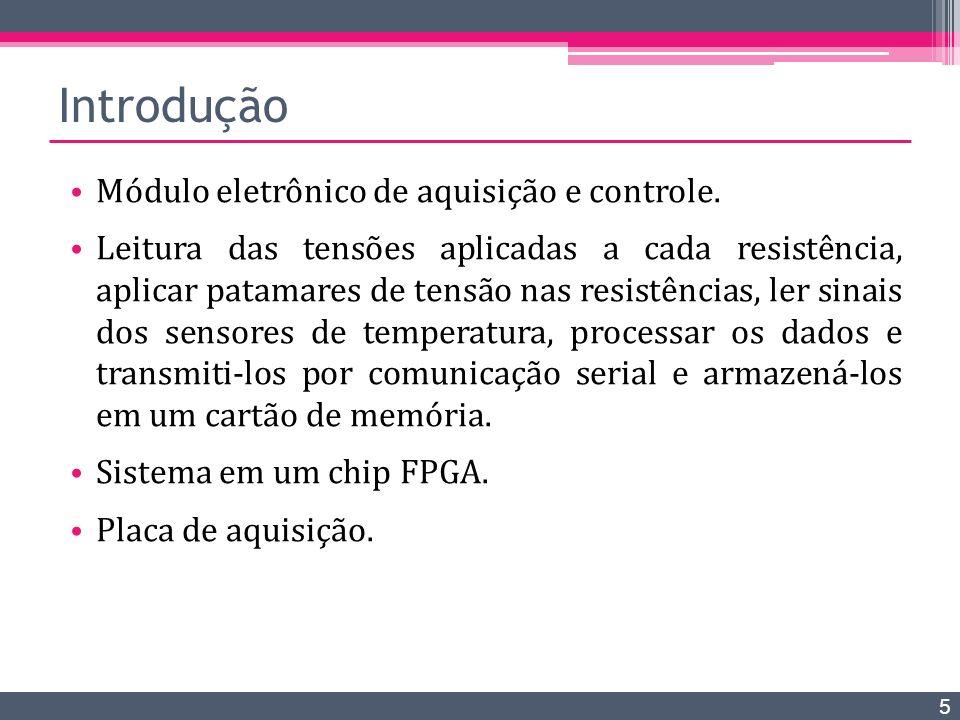 Introdução Módulo eletrônico de aquisição e controle.