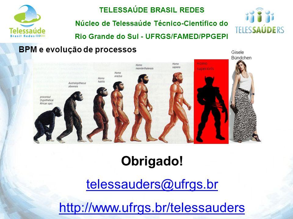 Obrigado! telessauders@ufrgs.br http://www.ufrgs.br/telessauders