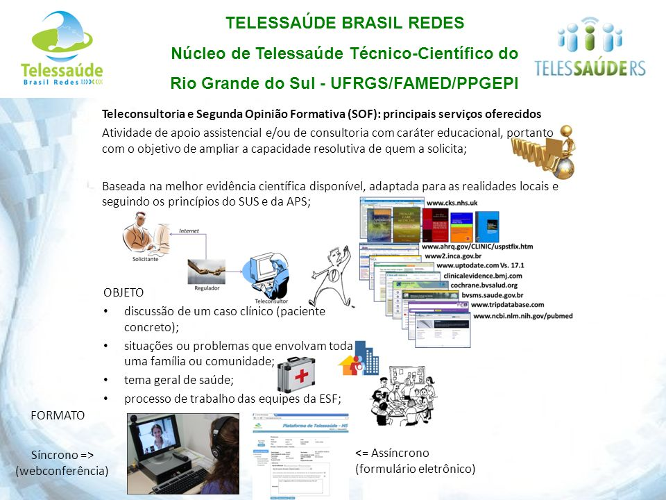 Teleconsultoria e Segunda Opinião Formativa (SOF): principais serviços oferecidos