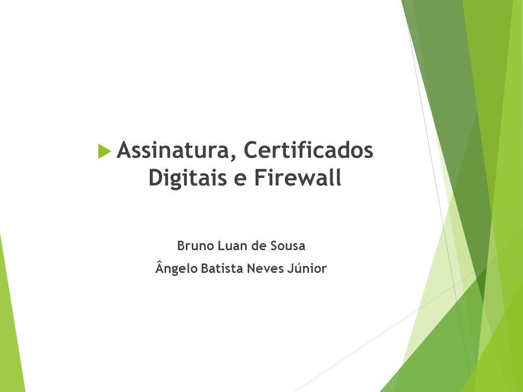 Assinatura, Certificados Digitais e Firewall