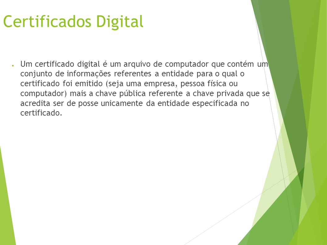 Certificados Digital