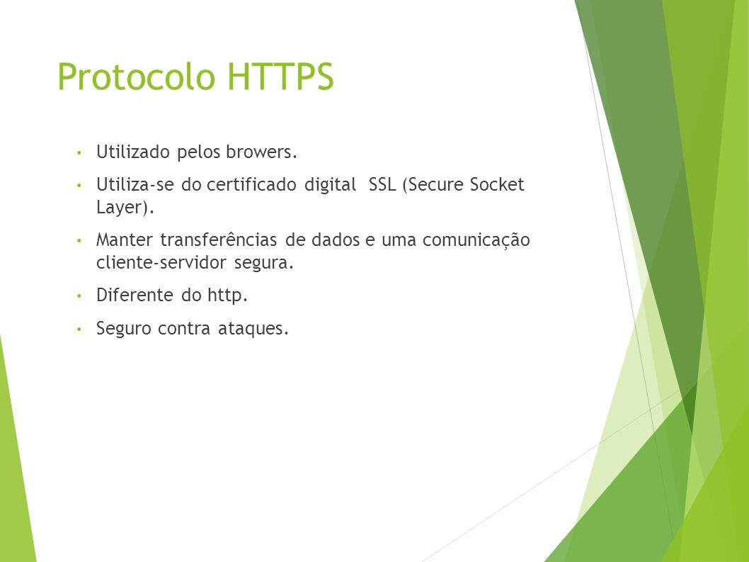 Protocolo HTTPS Utilizado pelos browers.