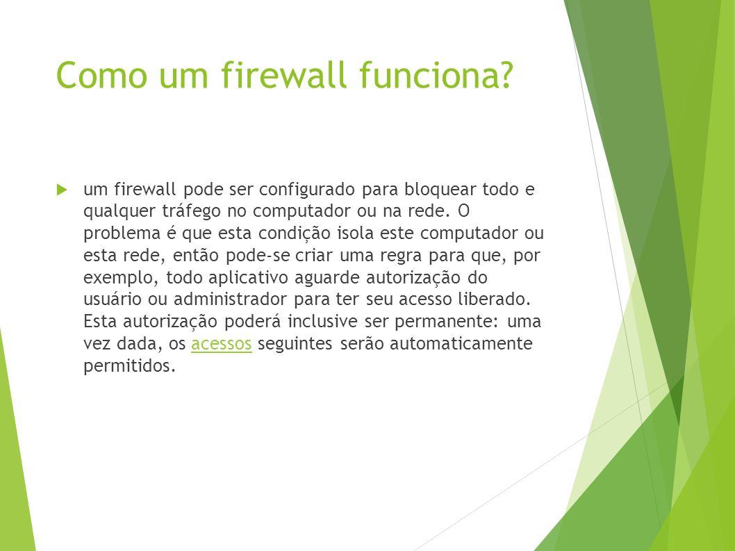 Como um firewall funciona