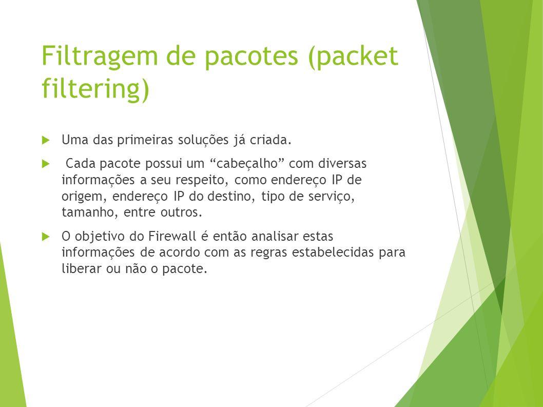 Filtragem de pacotes (packet filtering)