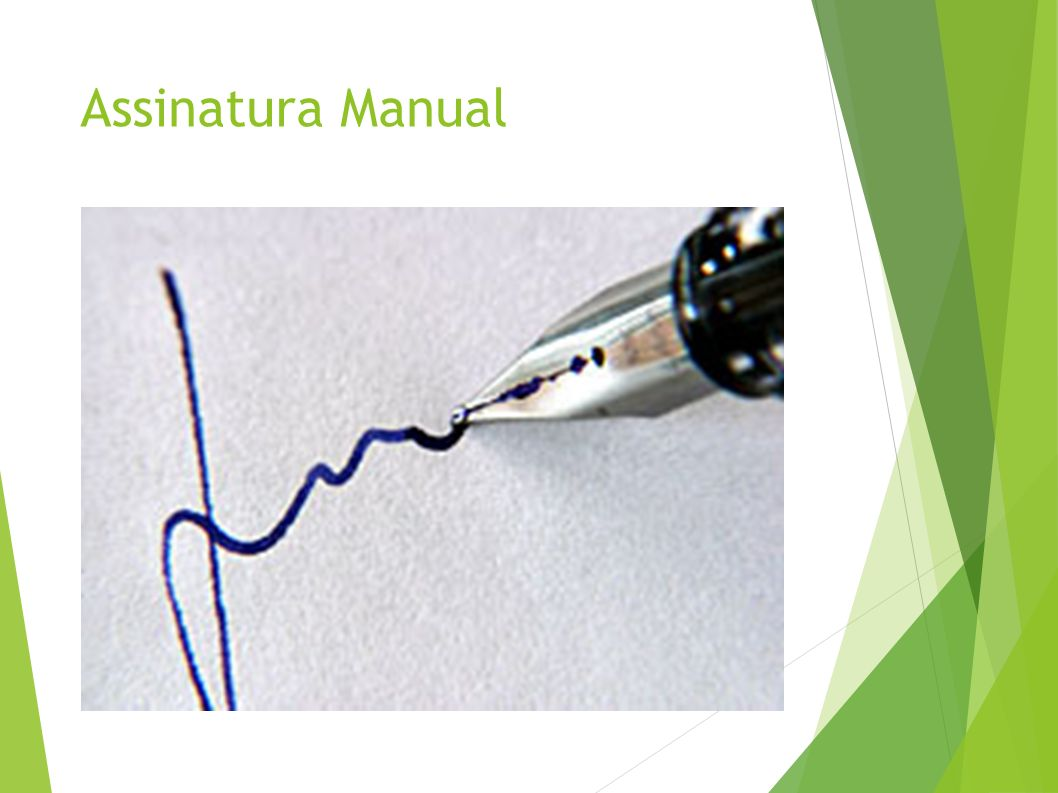 Assinatura Manual