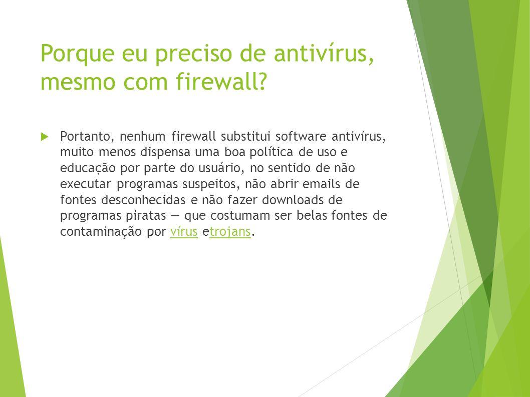 Porque eu preciso de antivírus, mesmo com firewall