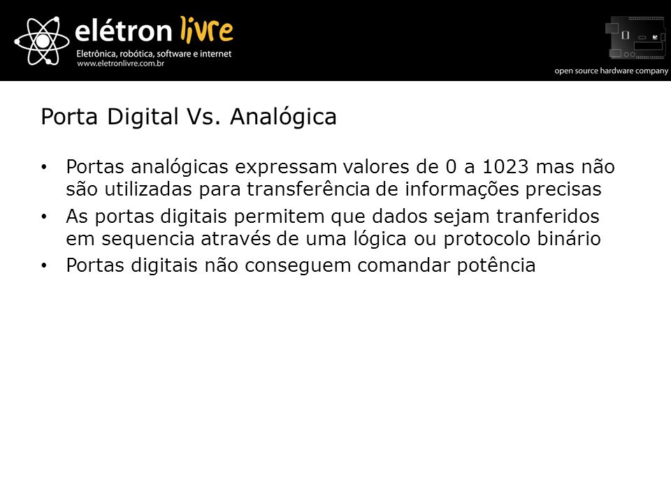 Porta Digital Vs. Analógica
