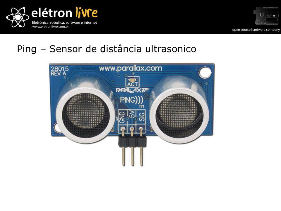 Ping – Sensor de distância ultrasonico