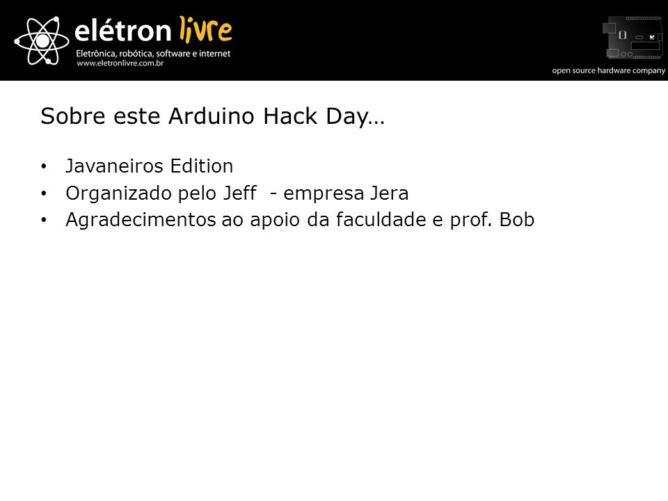 Sobre este Arduino Hack Day…