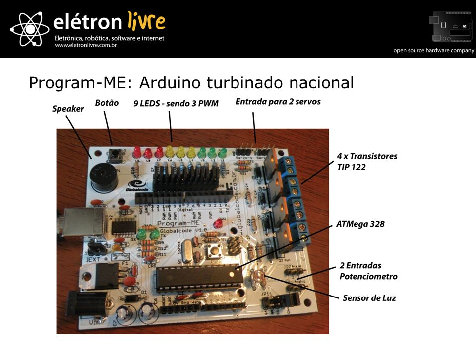 Program-ME: Arduino turbinado nacional