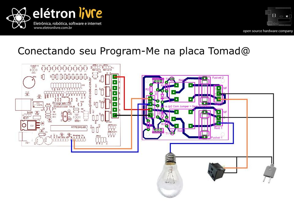 Conectando seu Program-Me na placa Tomad@