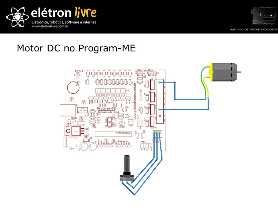 Motor DC no Program-ME