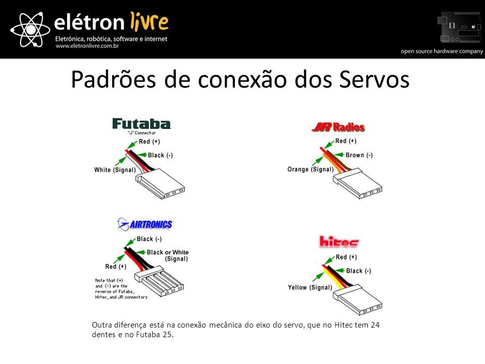 Padrões de conexão dos Servos