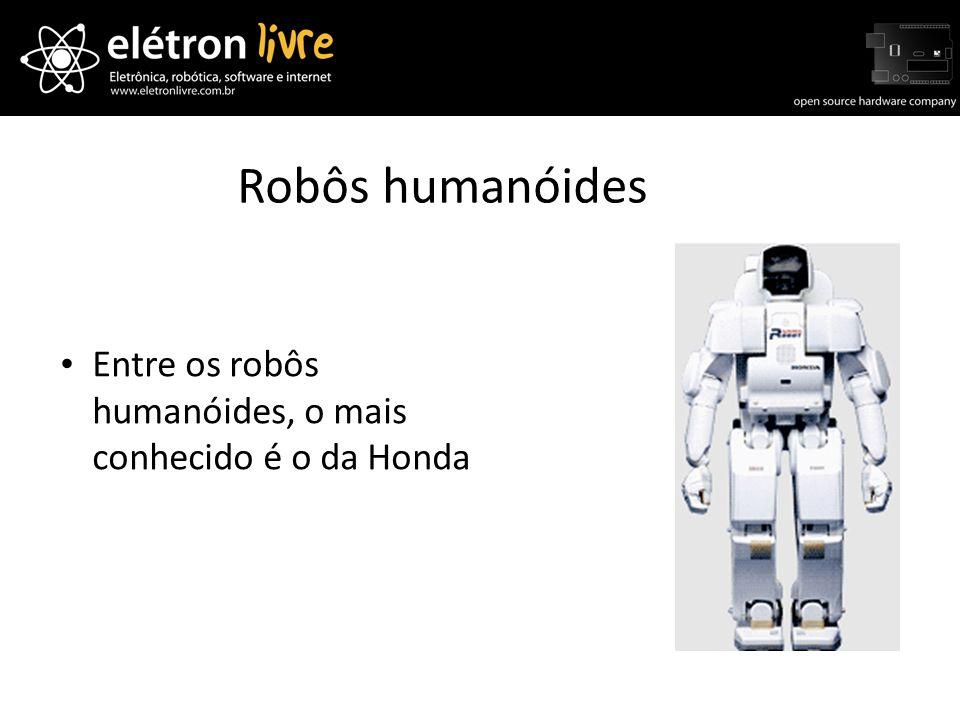 Robôs humanóides Entre os robôs humanóides, o mais conhecido é o da Honda 93