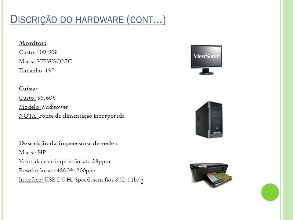 Discrição do hardware (cont…)