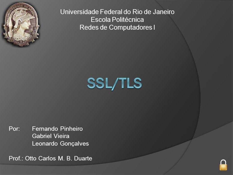 SSL/TLS Universidade Federal do Rio de Janeiro Escola Politécnica