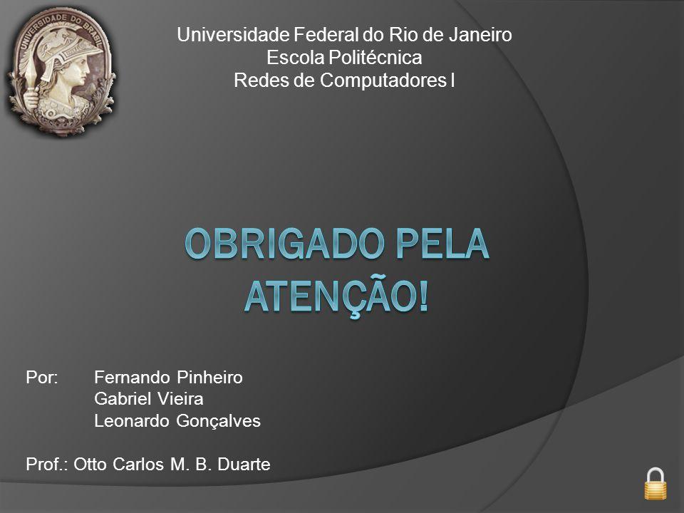 Obrigado pela atenção! Universidade Federal do Rio de Janeiro