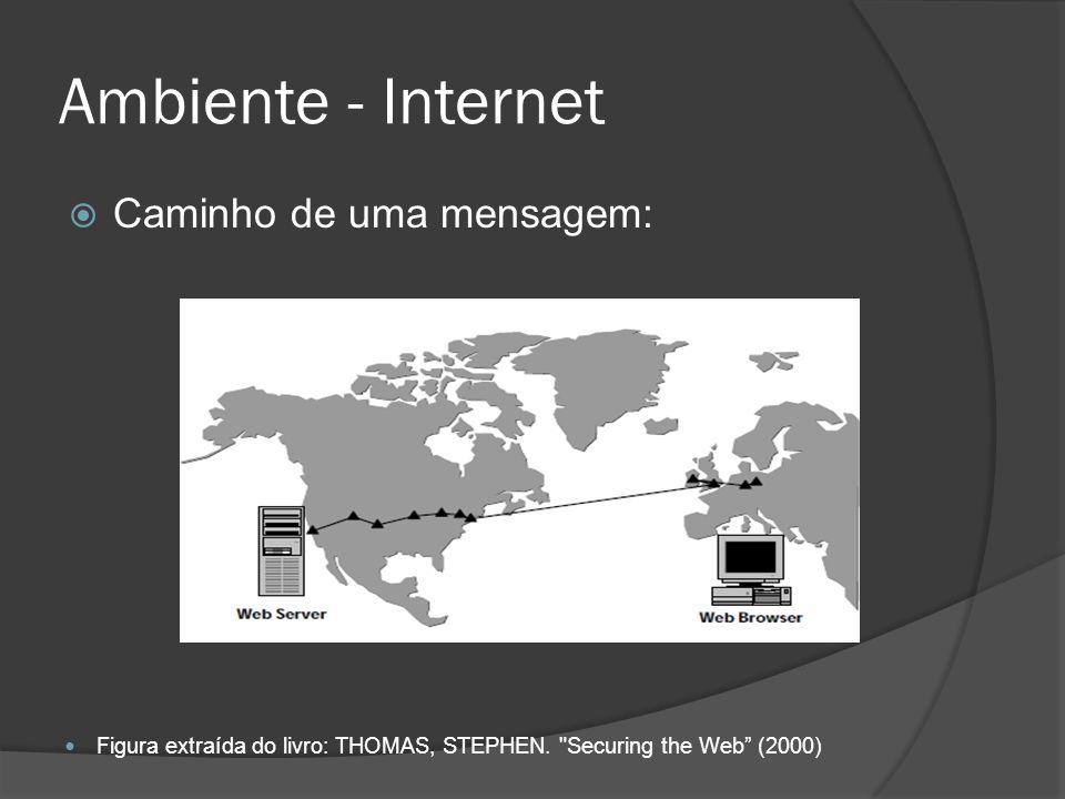 Ambiente - Internet Caminho de uma mensagem: