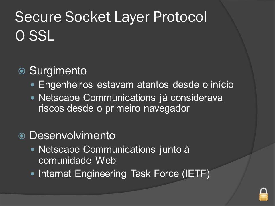 Secure Socket Layer Protocol O SSL