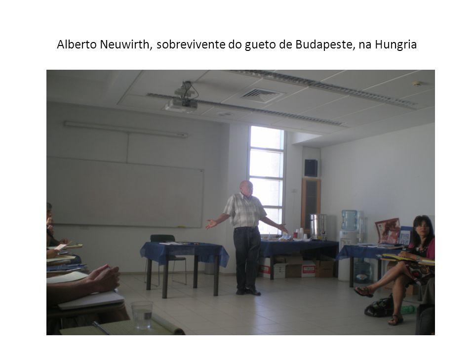 Alberto Neuwirth, sobrevivente do gueto de Budapeste, na Hungria