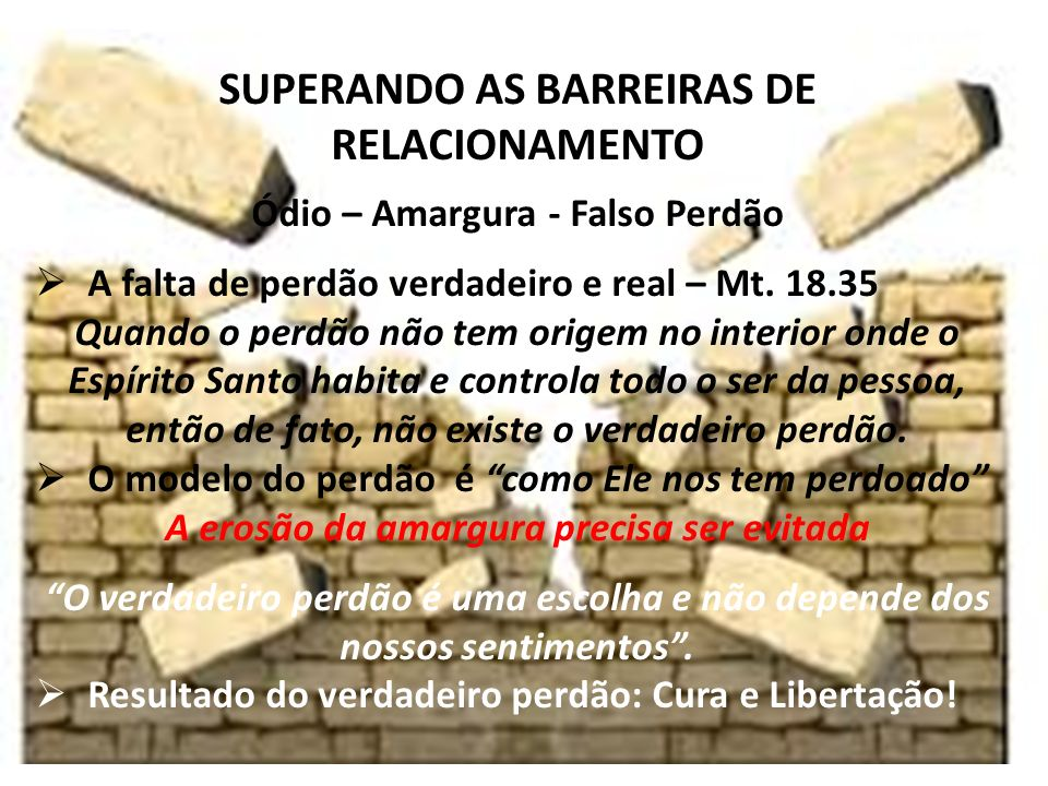 SUPERANDO AS BARREIRAS DE RELACIONAMENTO