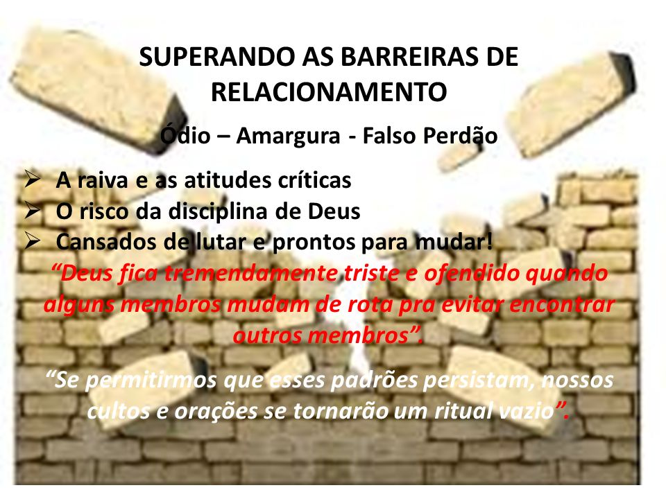 iste SUPERANDO AS BARREIRAS DE RELACIONAMENTO