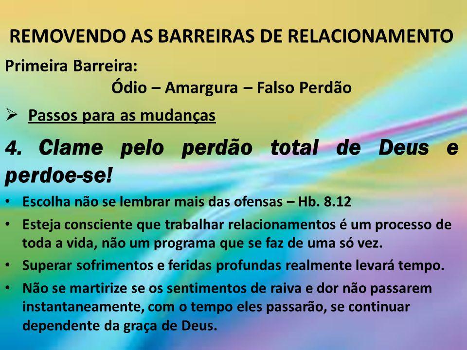 REMOVENDO AS BARREIRAS DE RELACIONAMENTO