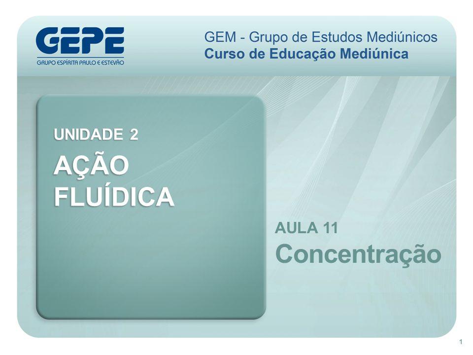 AÇÃO FLUÍDICA Concentração UNIDADE 2 AULA 11