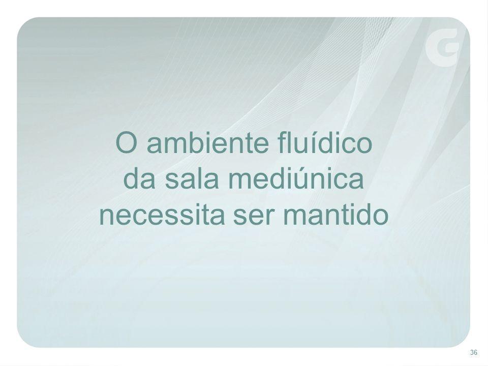 O ambiente fluídico da sala mediúnica necessita ser mantido