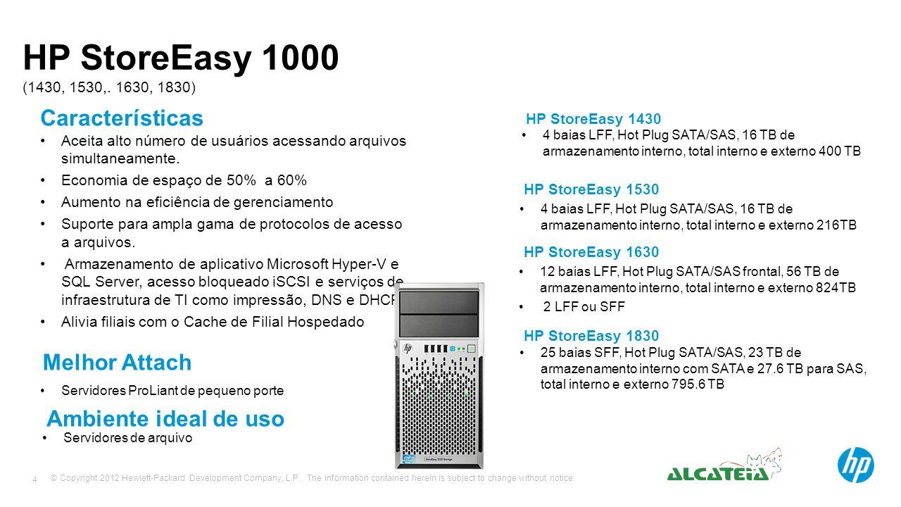 HP StoreEasy 1000 (1430, 1530,. 1630, 1830) Características