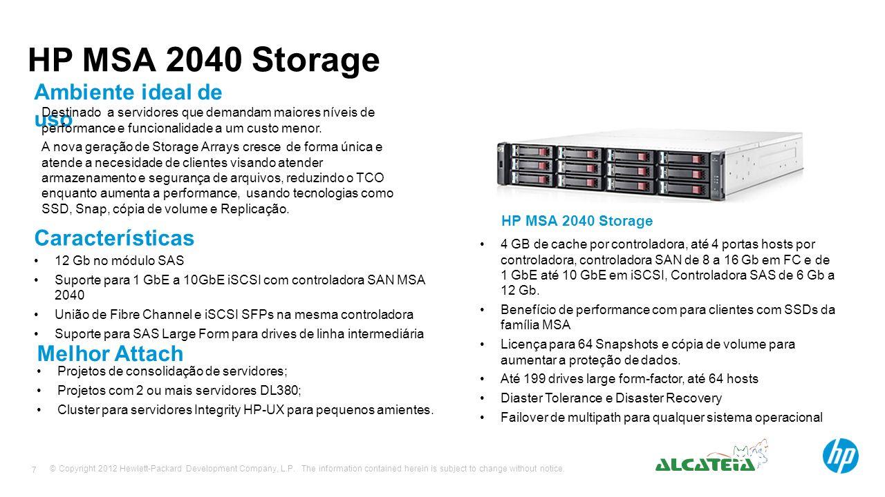 HP MSA 2040 Storage Ambiente ideal de uso Características