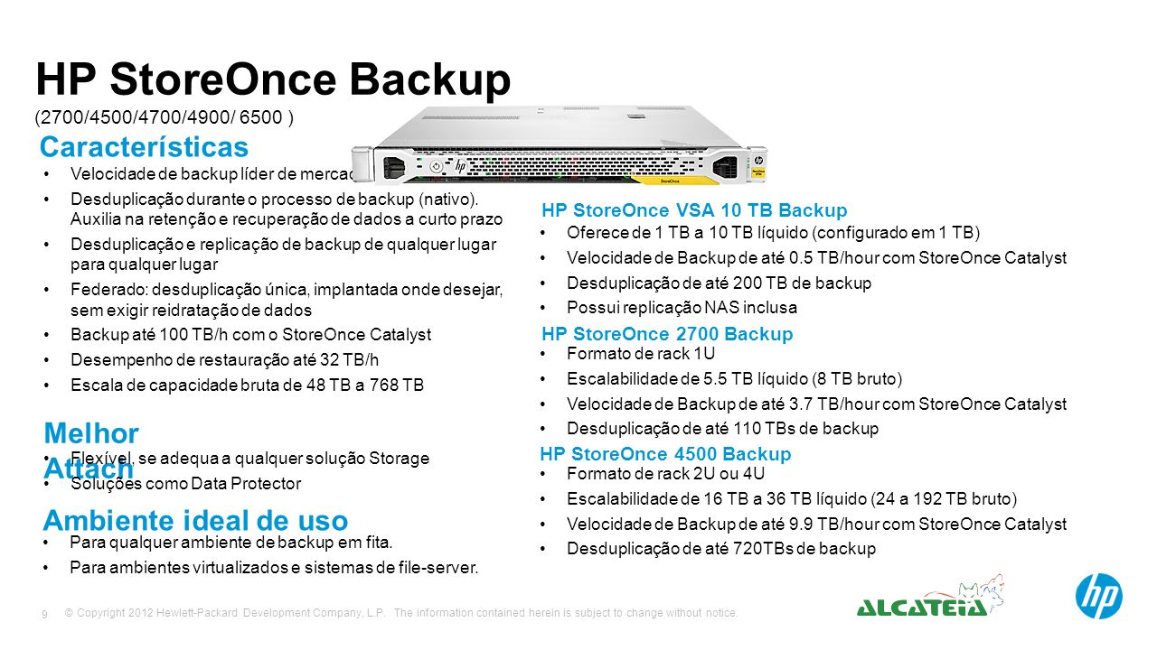 HP StoreOnce Backup (2700/4500/4700/4900/ 6500 )
