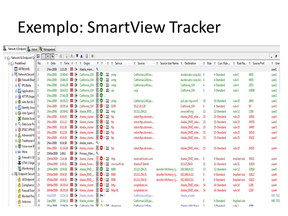 Exemplo: SmartView Tracker