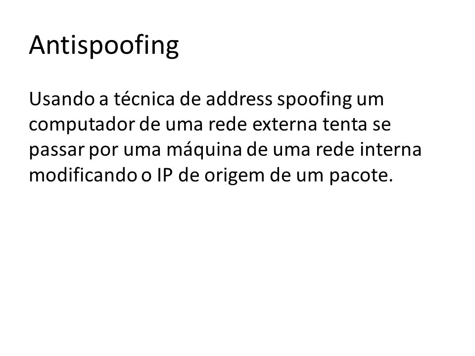 Antispoofing